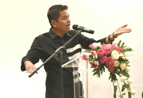 Dedi Mulyadi bicara blak-blakan di depan ratusan caleg Golkar di Purwakarta, Rabu (21/2/2018)