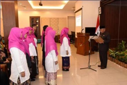 Walikota Depok melantik pengurus Forum PAUD Depok periode 2018-2021.