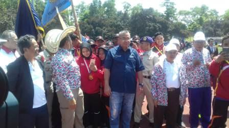 Menpora Imam Nahrowi membuka Porseni Politeknik se Indonesia di stadion kampus Universitas Indonesia.