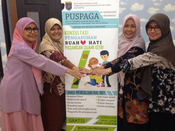 Tim Puspaga siap memberikan edukasi perlindungan anak kepada masyarakat.