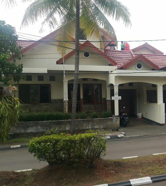 Inilah rumah yang hendak dikontrakan di Perumahan Gema Pesona Depok.