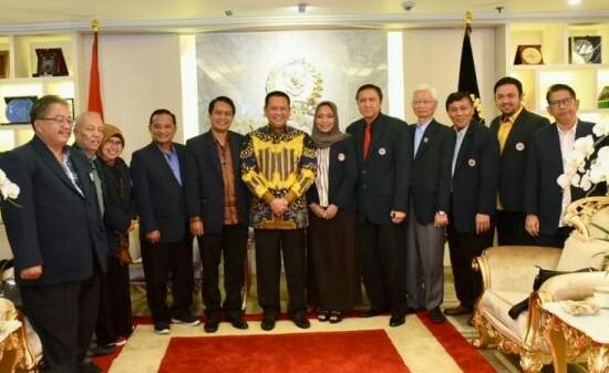 PB IDI mengadakan pertemuan dengan Ketua DPR RI Bambang Soesatyo.